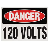 Voltage Warning Labels - Danger 120 Volts