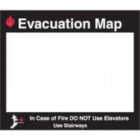 EVACUATION MAP INSERT FRAME-11.5X11