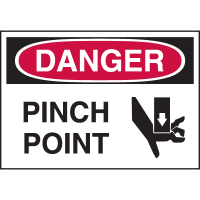 High Performance EmedcoUltraTuff™ Polyester Labels - Danger Pinch Point