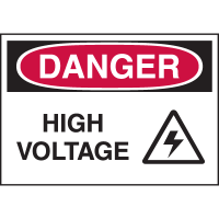 High Performance EmedcoUltraTuff™ Polyester Labels - Danger High Voltage