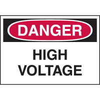 High Performance EmedcoUltraTuff™ Polyester Labels - High Voltage
