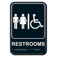 Handicap Restrooms ADA Signs
