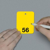 Numbered 51-75 Write-On Tags