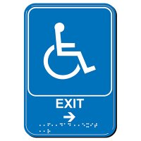 Exit Arrow Right ADA Signs