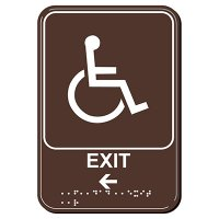 Exit Arrow Left ADA Signs