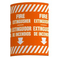 Bilingual Fire Extinguisher - Wrap Around Label