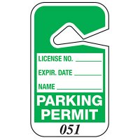 Numbered Parking Permits