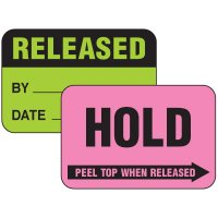 2-Part Write-On Status Label