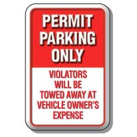 3-D Permit Parking Only Sign