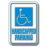 3-D Handicapped Parking Sign