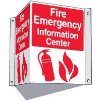 Fire Emergency Information Center Sign