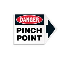 Arrow Labels - Danger Pinch Point