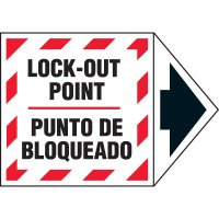 Bilingual Arrow Labels - Lock Out Point