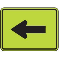Arrow Left Graphic Only - Fluorescent Pedestrian Signs