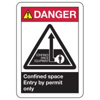 ANSI Danger Confined Space Signs
