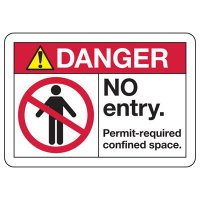 ANSI Safety Signs - Danger No Entry Permit Required