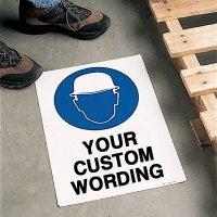 Custom Anti-Slip Safety Floor Signs