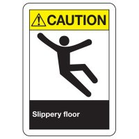 ANSI Caution Slippery Floor Signs