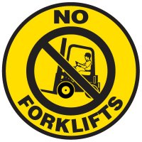 Floor Safety Signs - No Forklifts