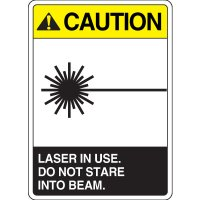 ANSI Caution Laser in Use Do Not Stare Sign