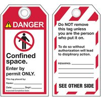 ANSI Permitted Confined Space Tags