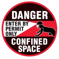 Floor Safety Signs - Danger Enter By Permit