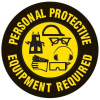 Floor Safety Signs - Personal Protective Equipment Required