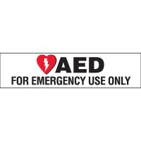 AED Emergency Use Cabinet Label