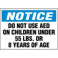 Do Not Use AED Cabinet Label