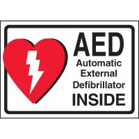 AED Inside Cabinet Label