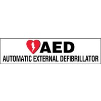 AED Cabinet Label