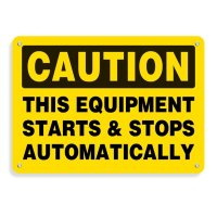 Equipment Starts & Stops Automatically Warning Markers