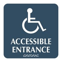 Accessible Entrance - Optima ADA Restroom Signs