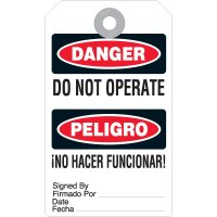 Bilingual Do Not Operate Accident Prevention Tag