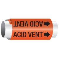 Acid Vent - Setmark Pipe Markers