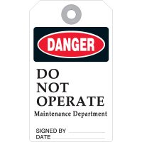 Do Not Operate Accident Prevention Tag