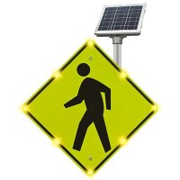 Flashing LED Pedestrian Crossing Sign