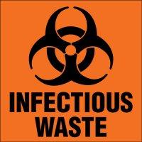 Infectious Waste Biohazard Label