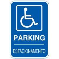 Bilingual Handicapped Parking Sign