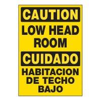 ToughWash® Adhesive Signs - Low Head Room (Bilingual)
