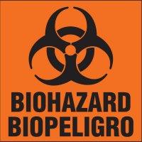 Bilingual Biohazard Label