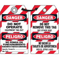 Danger Do Not Remove Tag - Bilingual DuroTag