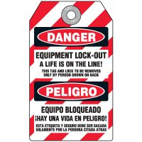 Danger A Life Is On The Line - Bilingual DuroTag