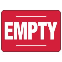 Empty Safety Sign