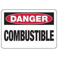 Danger Combustible Sign