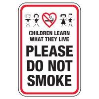Children Learn Do Not Smoke - Playground Sign
