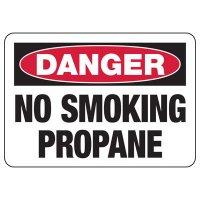 Danger No Smoking Propane Sign