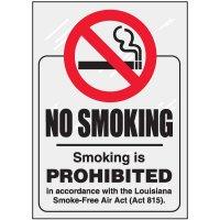 Louisiana No Smoking Window Decal