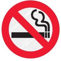 No Smoking Clear Adhesive Labels