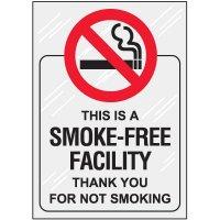 Smoke Free Facility Window Decal